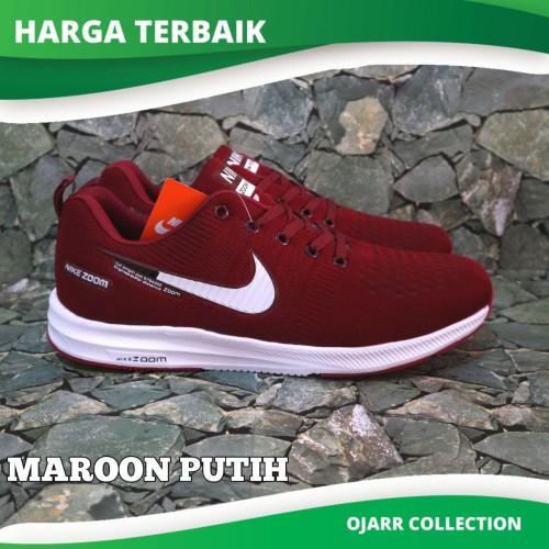 Foto Produk Sepatu Running Nike Zoom Pegasus V2 Untuk Cowo Pria Laki Grade Ori - Navy Putih, 39 dari Ojarr Collections