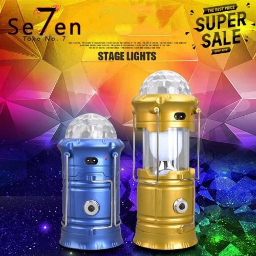 Foto Produk LAMPU LENTERA JUMBO SOLAR EMERGENCY TARIK SENTER DISCO CAMPING 999 dari Toko No.7