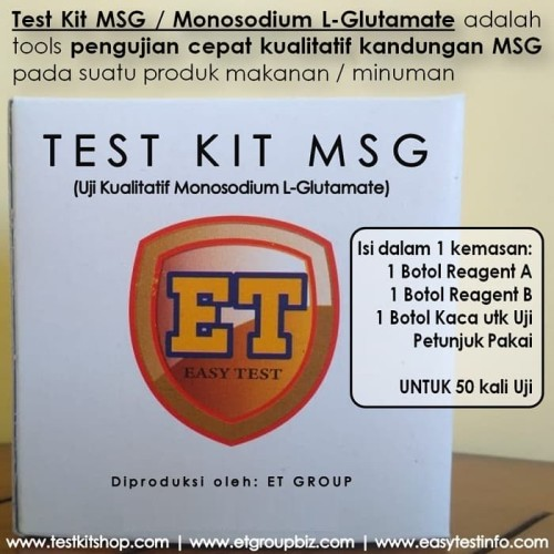 Foto Produk Test Kit MSG / Monosodium L-Glutamate dari easytest