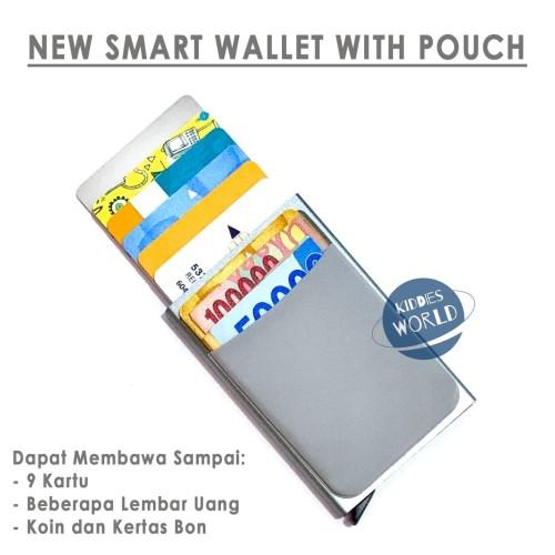 Foto Produk DOMPET PINTAR SMART WALLET WITH POUCH Card Holder Metal Case RFID dari Kiddies World