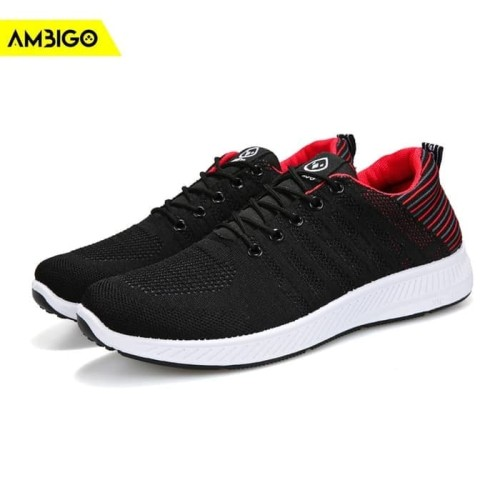 Foto Produk Sepatu Sneakers Olahraga Pria Ambigo Epic Flyknit EF01 JKT13 - abu hijau, 42 dari Jagonya Case