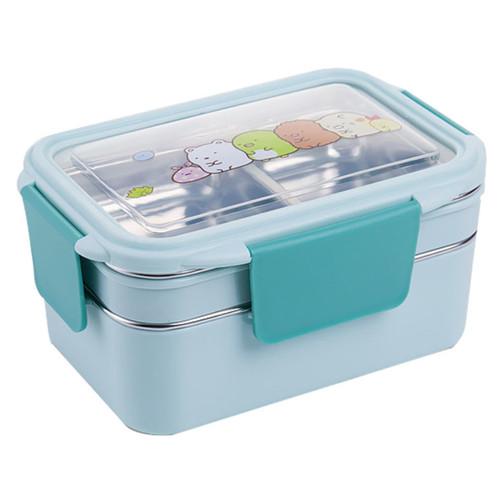 Foto Produk Kotak makan ANAK Lunch Box Tempat makan 2 tingkat 304 STAINLESS - Biru Muda dari SBJ-Jakarta