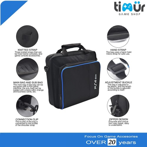 Foto Produk Tas Travel Bag PS4 Playstation 4 Slim Hitam dari Timur Game Shop