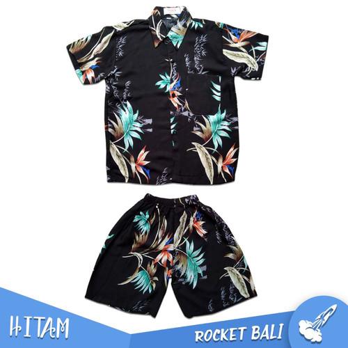 Foto Produk Kemeja Pantai Anak Setelan - Set Baju Pantai Anak - Baju Anak Pantai - Hitam, 3 dari Rocket Bali