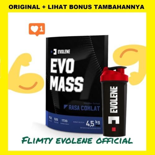 Foto Produk Evo Mass 4.5 kg 4.500g 10 lb lbs BPOM HALAL MUI EVOMASS EVOLENE dari Evolene Flimty Official