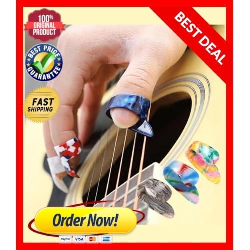 Foto Produk Pick jari gitar anti sakit kapalan celluloid Guitar Thumb Finger pick dari DickyKim