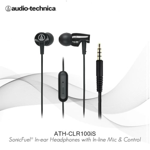 Foto Produk Earphone Audio-Technica ATH-CLR100iS Black dari my_phone