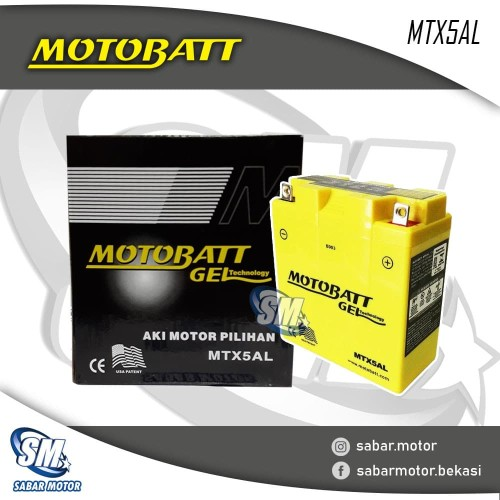 Foto Produk ACCU MOTOBATT Tipe MTX5AL dari SABAR MOTOR