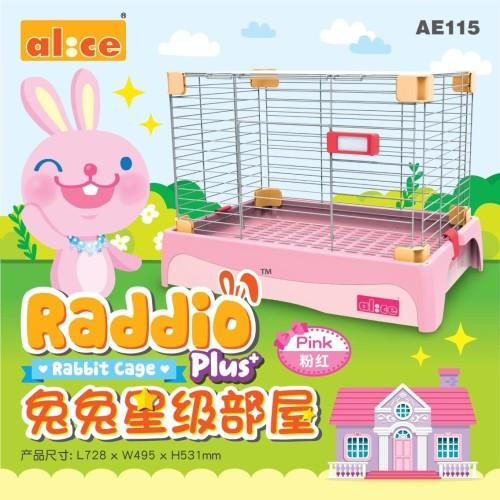 Foto Produk Alice AE115 Raddio Plus+ Rabbit Cage Pink dari Bakpao Rabbit