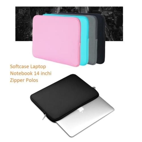 Foto Produk SCL02 Softcase Laptop Notebook 14 inchi Zipper Polos - PINK dari Dneo Store