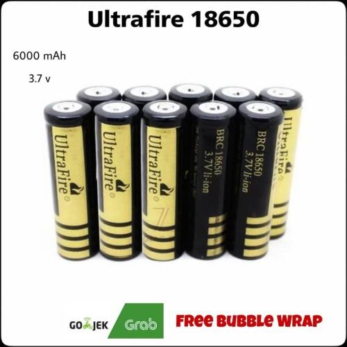 Foto Produk Baterai 18650 Ultrafire GOLD Cap: 6000mAh - Flat Top dari ZigZag-Store