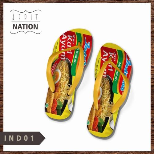 Foto Produk [PRIA] Indomie Instan Sendal jepit laki cowok sandal murah flip flop dari JepitNation