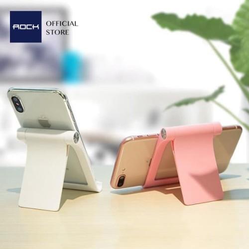 Foto Produk ROCK Adjustable Desktop Stand Docking for Phone & Tablet - Putih dari ROCK Official Store