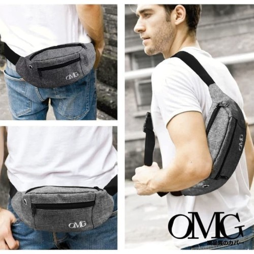 Foto Produk Waist bag Waistbag Pria Wanita Tas selempang Pinggang Gadget OMG dari lbagstore