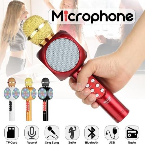 Foto Produk Mic Ws 1816 Bluetooth Karaoke - Wster Microphone Smule Wireless Ws1816 dari Metro_BigStore
