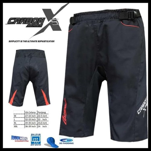 Foto Produk Gebyar Promo Celana Sepeda Str Carbon X2 | Size Xl | Dengan Padding 3D dari Elyawati Retail