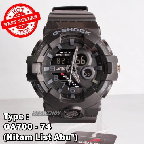 Foto Produk Jam tangan G SHOCK GA-700 Full Black Hitam army digital pria & anak dari sfswendy