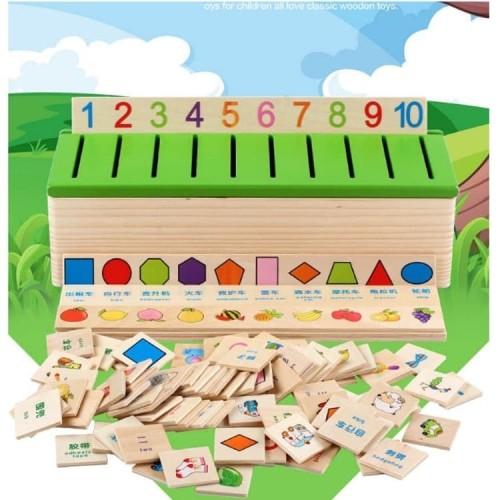 Foto Produk CMK041 Mainan Puzzle Kayu Bentuk KARTUN MONTESSORI Untuk Belajar dari Mmtoys Indonesia