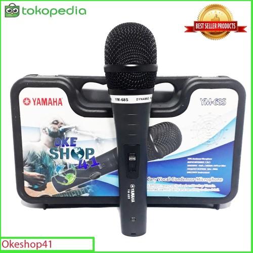Foto Produk Yamaha YM-68S Microphone Vocal Profesional Mic Kabel Karaoke dari okeshop41