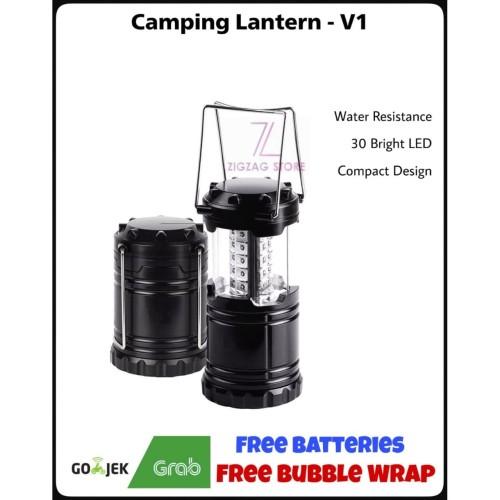 Foto Produk Paket Senter Lentera Camping LED Waterproof + Baterai dari ZigZag-Store