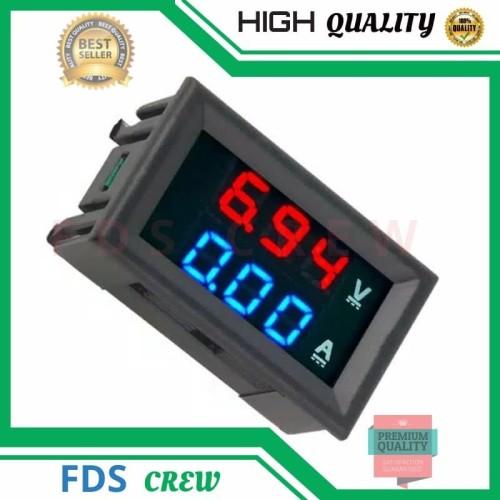 Foto Produk VoltMeter Digital Mini DC 0-100V 10A Ampere Volt Meter Tampilan Ganda dari FDS crew