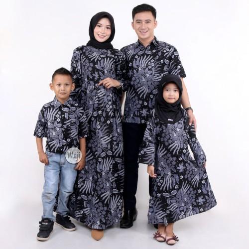 Foto Produk BATIK COUPLE KELUARGA SARIMBIT BATIK MAMA PAPA BATIK MEWAH 36 dari batik gemilang