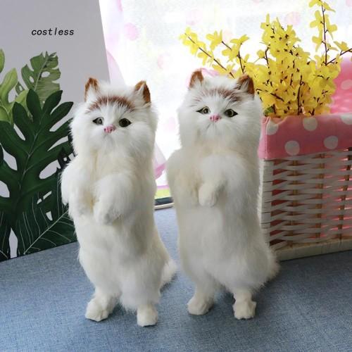 Foto Produk CT Mainan Boneka Kucing Berdiri Mirip Asli untuk Properti Fotografi De dari Random Shop B