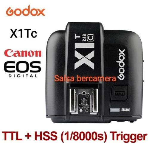 Foto Produk Trigger Godox X1Tc TTL For Canon / Godox X1T TTL For Canon Transmitter - Hitam dari salsa bercamera