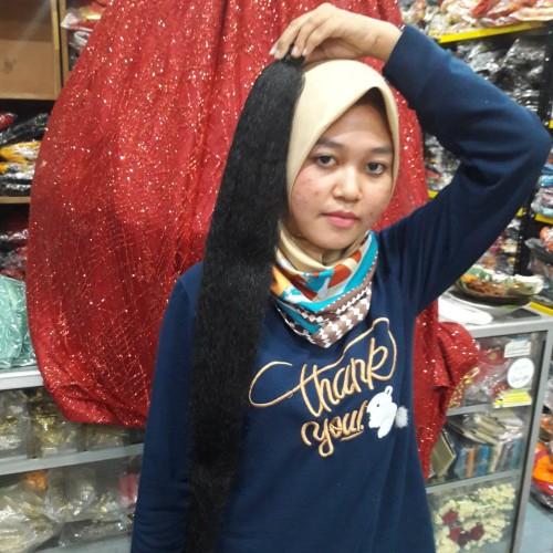 Foto Produk rambut cemara panjang 75 cm - Panjang 60 Cm, Hitam dari Restu_Ibu1