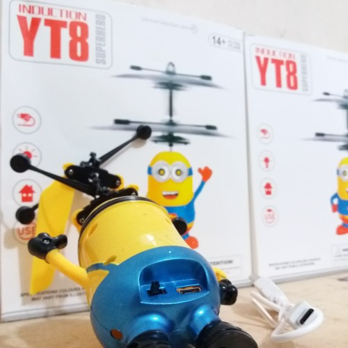 Foto Produk MINION/INDUCTION FLAYING SENSOR/mainan minion terbang sensor dari mainan anakmurah