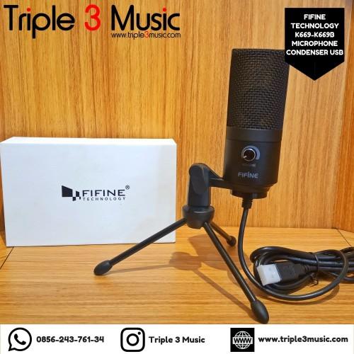 Foto Produk Fifine K669B Mic Condenser USB Mic Gamers Mic Youtuber triple3music dari triple3music