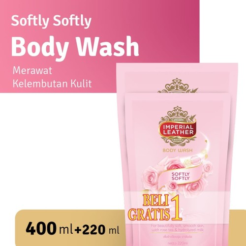 Foto Produk Imperial Leather Body Wash Softly Softly 400ml + FREE 220ml dari Cussons Official Store