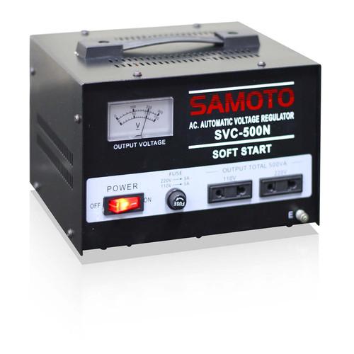 Foto Produk Stabiliser SAMOTO 500 SVC500 SVC-500 500VA stavolt stabilizer motor dari Innovatech Official