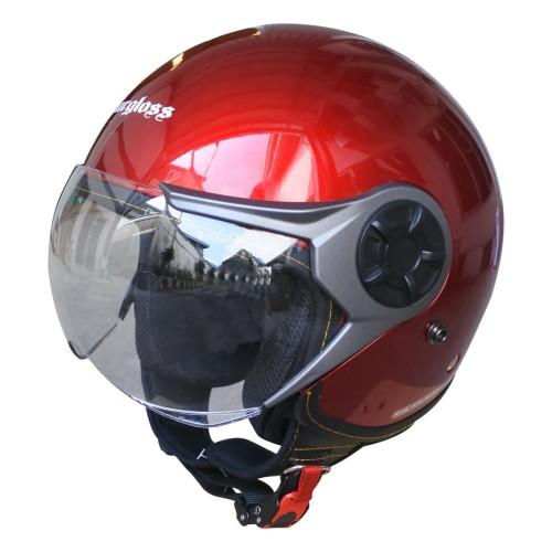Foto Produk Cargloss YRM Micrometric Buckle, visor Hardcoat Halfface - Red Met - L dari Helm Cargloss