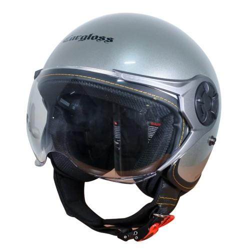 Foto Produk Cargloss YRM Micrometric Buckle Helm Half Face - Silver Met - M dari Helm Cargloss