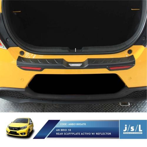 Foto Produk JSL Sillplate Belakang All New Brio 2018 Rear Scuff Activo W/Reflector dari Autotivo