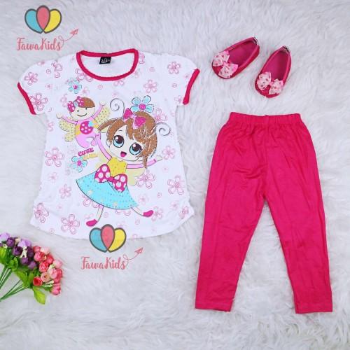 Foto Produk Setelan Alice uk 2-6 Tahun / Ekspor Quality - Baju Anak Perempuan Kaos - 2-4 Thn, Pink Fanta dari Kios Balita Fawa