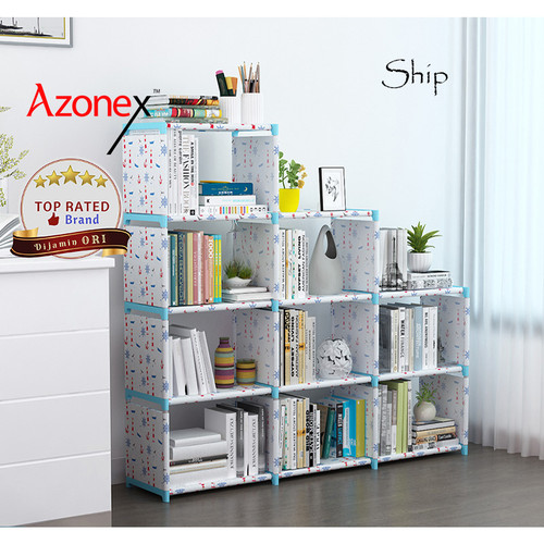 Foto Produk Rak Buku Serbaguna Lemari Buku Tempat Penyimpanan Portabel Rak L Shape - Ship dari Azonex