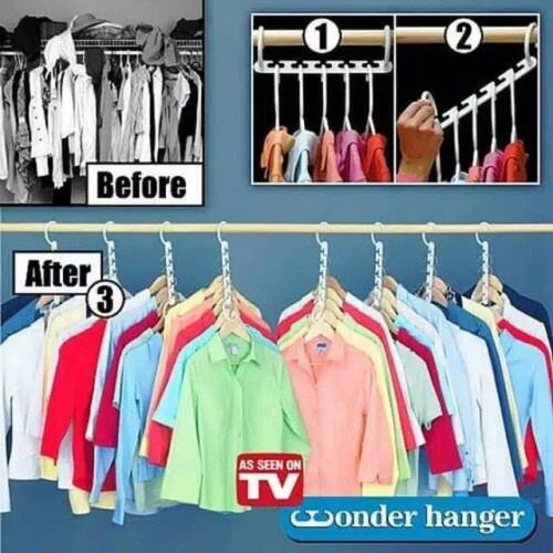 Foto Produk Magic Hanger/Wonder Hanger/Hanger ajaib/Gantungan ajaib dari Fionna. c. shop