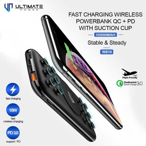 Foto Produk Ultimate Power WS10 Fast Charging Wireless Powerbank QC+PD 10000mAh dari Ultimate Power Official