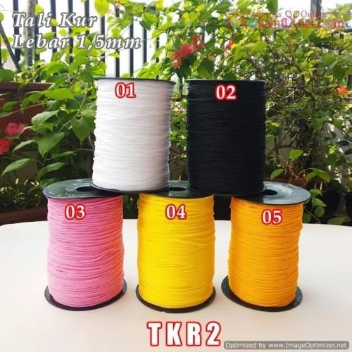 Foto Produk TKR2 Tali Kur Kecil 2 Benang Diameter 1,5mm (1 Bks isi 10 meter) dari Toko Kain Flanel dot com