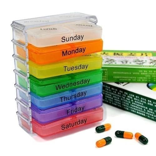 Foto Produk Kotak/ Tempat Obat Harian Mingguan Pagi Siang Malam Daily Medicine Box dari Belly Belly