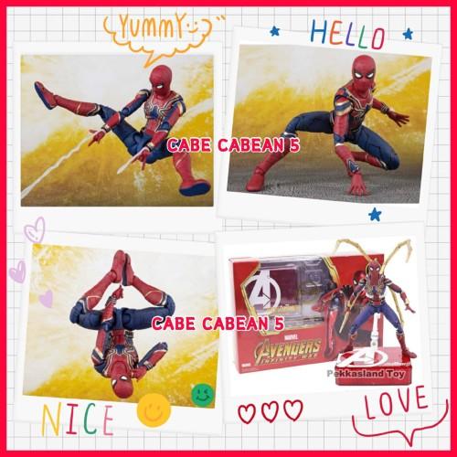 Foto Produk SHF Iron Spider Infinity War With Tamashii Stage Avenger Marvel New dari CABE CABEAN5