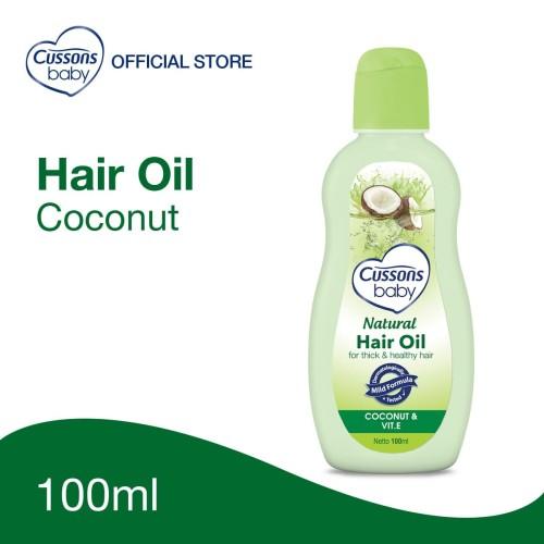Foto Produk Cussons Baby Natural Hair Oil Coconut 100ml dari Cussons Official Store