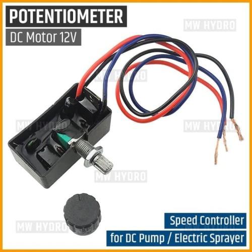Foto Produk Potensio Pompa Air DC 12V, Speed Controller DC Pump / Electric Sprayer dari MW Hydro Tangerang