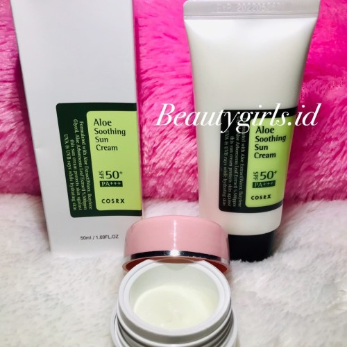 Foto Produk COSRX ALOE SOOTHING SUN CREAM SPF50 PA+++ SHARE IN JAR dari Beuty Girls