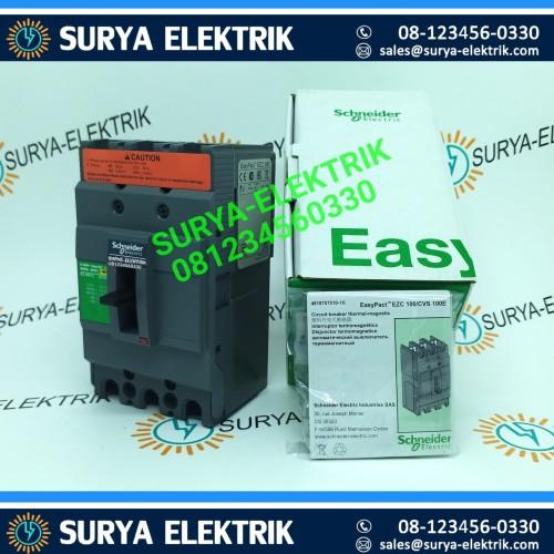 Foto Produk MCCN SCHNEIDER EZC100H EZC 100H 3POLE 100A 100 A AMPER EZC100H3100 ORI dari SURYA-ELEKTRIK