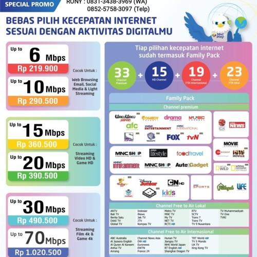 Jual Pasang Baru Wi Fi Mnc Play Surabaya Internet Full Fiber Optic Kota Surabaya El Trust Tokopedia
