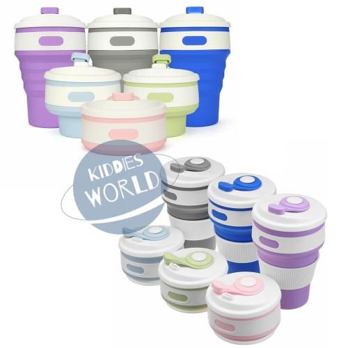 Foto Produk Travel Collapsible Cup / Gelas Lipat / Foldable Cup / Mirip Stojo dari Kiddies World
