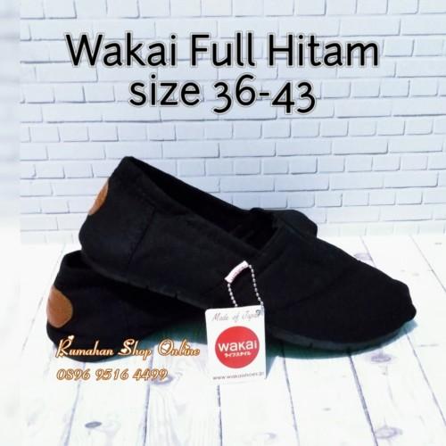Foto Produk Sepatu Wakai Slip On pria dan wanita full black dari Rumahan Shop Online